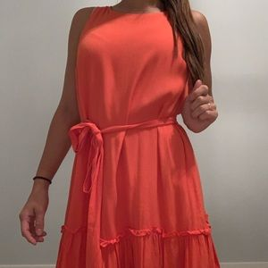 Orange Banana Republic Dress with cinched waist 2P